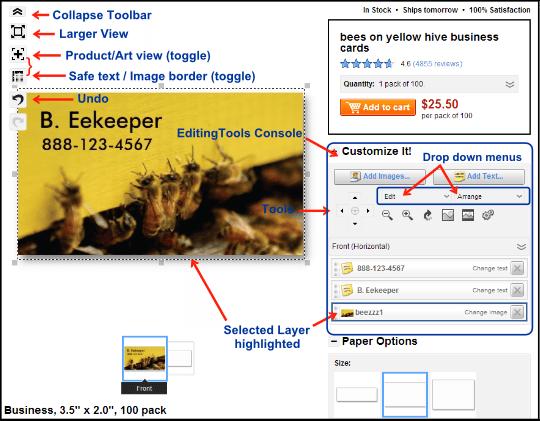 zazzle customization screen layout